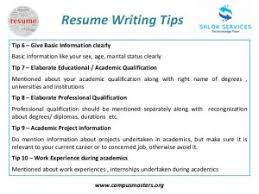 Download Tips For Building A Resume