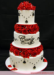 Black And White With Red Roses Cakecentralcom