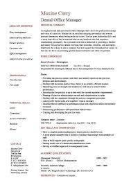 Dental Office Resume Waiter Resume Examples For Letters Job