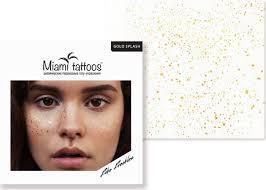 Miami Tattoos переводные тату веснушки Gold Splash 1 лист 10см10см