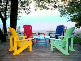 recycled plastic adirondack chairs on deck 32 coffee table 329 99