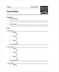 35 Essay Outline Templates Word Templates