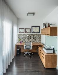 Small Picture Small Home Office with Abstract Wallpaper DECOR PRETTIES