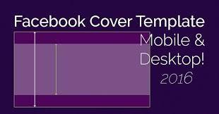 cover photo mobile desktop template facebook banner photo