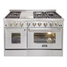 double oven gas range with griddle. Exellent Double Kucht ProStyle 48 In 67 Cu Ft Dual Fuel Range With In Double Oven Gas With Griddle Home Depot