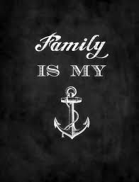 Family Is My Anchor By Sarah Sanke Maritim Home Weisheiten