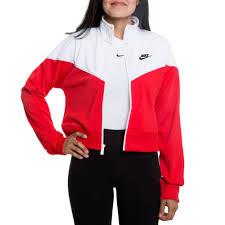 Nike Nsw Crop Heritage Track Jacket University Red White