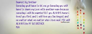Brother Love Quotes Custom 48 Most Wonderful Big Brother Quotes Elder Brother Saying