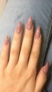 Acrylic Nail Designs Oval Oval Shaped Long Acrylic Pink Nails Gel Nails Almond