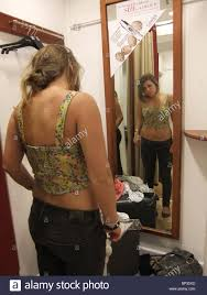 Girl changing in room