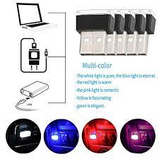6 colour <b>Car</b> USB Atmosphere Light WENTS <b>6PCS Car</b> USB ...
