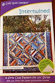 Amazon.com: Strip it Three Ways Quilt Patterns from Nancy Rink ... & Pattern Intertwined Using 2 and one Half inch Strips Cozy Quilt Design Adamdwight.com