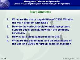 enhancing management decision making for the digital firm ppt  74 essay questions