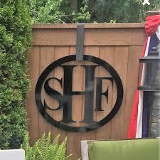 Roman Monogram Door Hanger, Front Door Wreath, Metal Monogram, Home ...