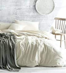 ivory cream duvet cover linen bedding queen