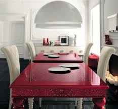 red dining room colors. Best Dining Table Colors View In Gallery Stunning High Gloss Red Is An Instant Room