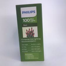 Philips 100 Green Mini Lights Valentines Lights On Green Wire Philips 100 Count Red Mini