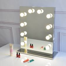 Full Size Mirror With Lights 12 Decorate Full Size Led Globe Style Bulbs Included Free