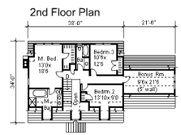 2 Story Cape 3 Bedroom House Plan