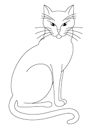 Coloring Page Of A Cat Kitty Cat Coloring Pages Together With Free