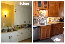 bathroom cabinet refacing before and after. Before And After Cabinet Refacing Kitchen On Intended Refinishing Cupboards . Bathroom