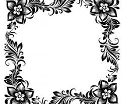 Border Black And White Flower Border Design Images Black And White Best Flower 2017