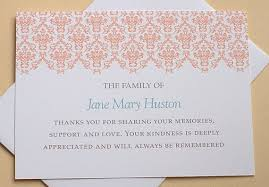 Personalized Sympathy Thank You Cards Card Design Ideas The Family Condolence Thank You Cards Of Jane