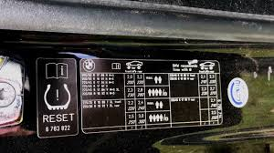 Bmw Run Flat Tyre Pressures Chart Bmw Tyre Pressure Sticker How To Read It And Effectively