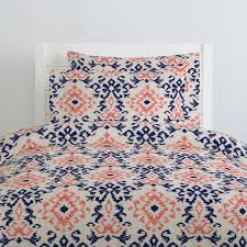189 00 229 00 navy and c ikat damask duvet cover