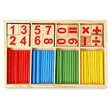 Game With Wooden Sticks Montessori Mathematical Intelligence Stick Preschool Educational 69