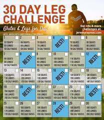 30 Day Leg Challenge Chart Pin On Fitness