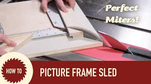the ultimate picture frame sled with micro jig zero play guide bar make something
