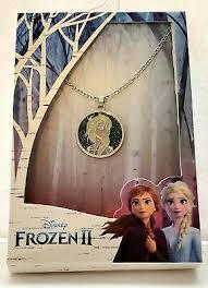❄Disney Frozen 2 Elsa Silver Necklace New!❄ | eBay