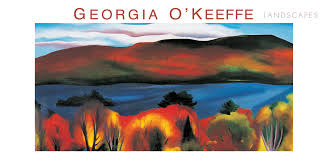 georgia o keeffe landscapes panoramic boxed notecards
