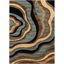 barclay nirvana waves multi blue 2 ft x 4 ft modern area rug