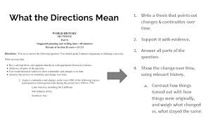 Change Continuity Over Time Ccot Essay Ap World History Ppt