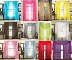 sheer scarf valance ds voile window panel curtains 20 diff colors