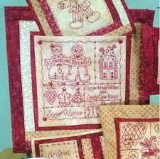Sweet and Spicy Gingerbread for Holiday Decorating! Sparkling ... & Picture of Gingerbread Wishes RedWork - Hand Embroidery Adamdwight.com
