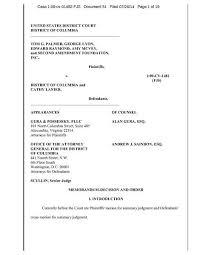 Cv Order File Memorandum Decision And Order Palmer V District Of