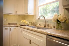 Contemporary Kitchen Backsplash White Cabinets Brown Countertop Countertops View Full Size With And Design Inspiration