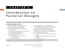 2 6 Factorial Design Chapter 5 Introduction To Factorial Designs Ppt Download