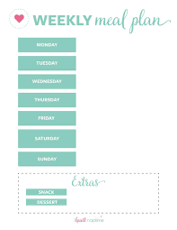 Menu Plan Template Free Printable Weekly Meal Plan Templates I Heart Naptime