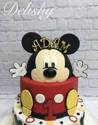 Mickey Mouse First Birthday Cake Cake By Zahraa Cakesdecor