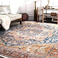 rust colored rugs blue traditional medallion bordered area rug 9 x bathroom towels and