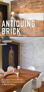 how to paint a brick wall but keep its authenticity