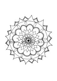 Disegni Da Colorare Mandala Fiore Colorare Pagina Pagine Da Etsy