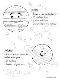 Plan Tes Jupiter Et Saturne Coloriage Sciences Gratuit Sur