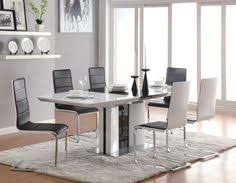 5 pc broderick white high gloss modern dining room table set 120941