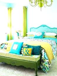 teal and lime green curtains for bedroom bright blue
