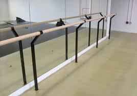 wall mounted ballet barre. Floor Mounted Ballet Barres Harlequin Floors Barre Installation Wall